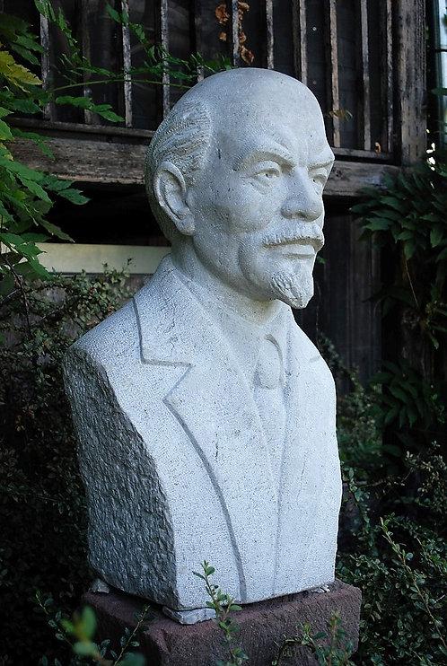 Very Big Lenin Bust Crafted From Stone 150kg./330pound