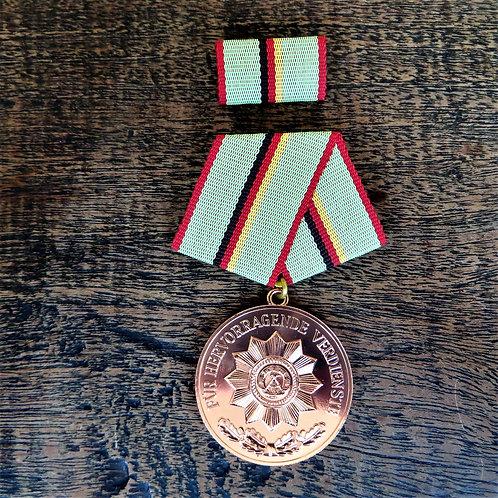 Medal DDR Medal Of Excellent Service Ministry Of Interior Bronze
