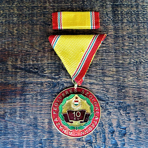 Medal Hungary 10 Year Of Militairy Service