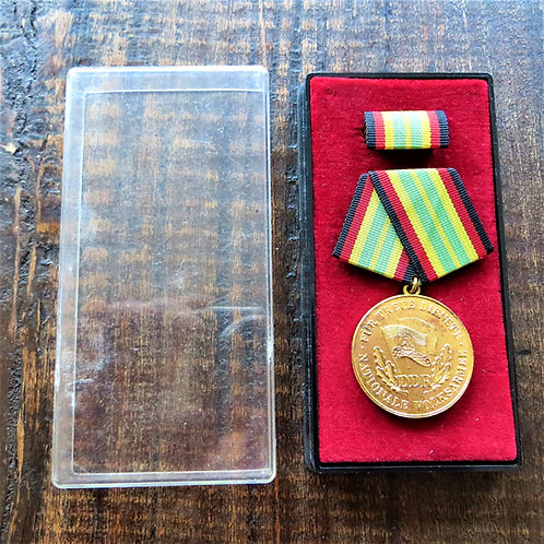 Medal DDR Gold 15 Year Of Service National People's Army