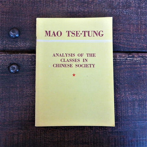 Book China  Mao Zedong Analysis Of The Classes In Chinese Society 1956