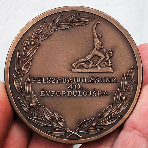 Table Medal Hungary St. George The Dragon Killer Budapest 1985