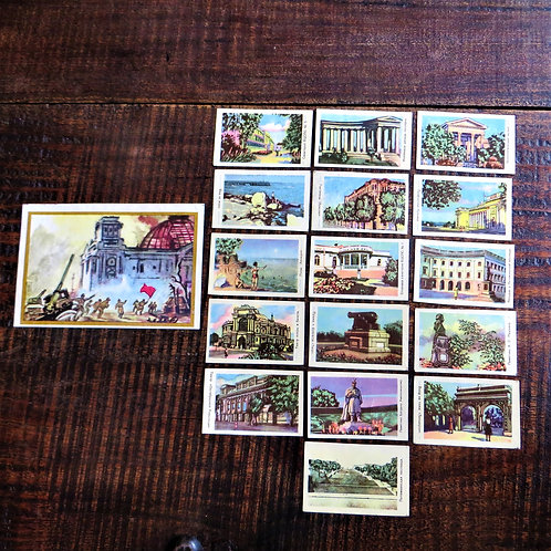 Matchbox Labels Soviet Russia Buildings 60's