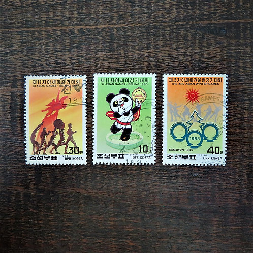 Stamps North Korea Sports Asian Winter Games 1990