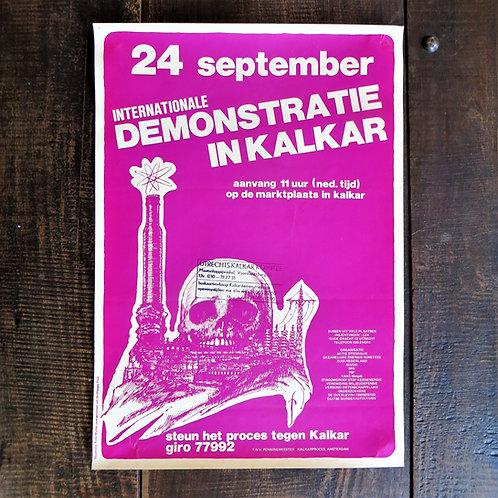 Poster Netherlands Original Anti Kalkar Demonstration