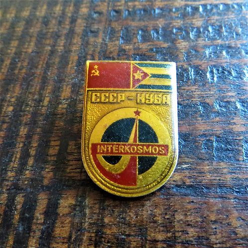 Pin Soviet Russia Space Interkosmos Cuba