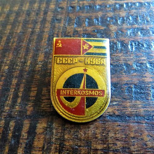 Pin Soviet Russia Space Interkosmos Cuba