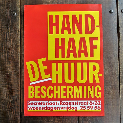 Poster Netherlands Original Maintain The Rental Protection