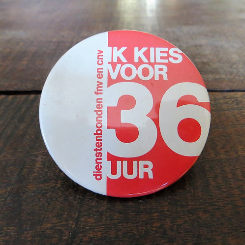 Pin Netherlands 36 Hour Working Week