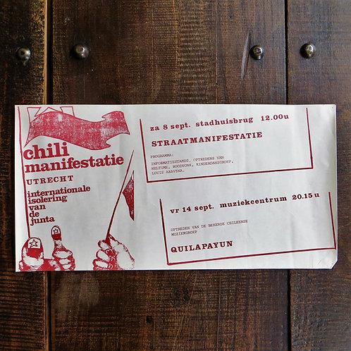 Poster Netherlands Original Chili Manifestation City Of Utrecht