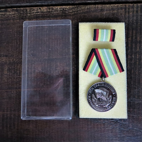 Medal DDR Silver 10 Year Of Service National People's Army