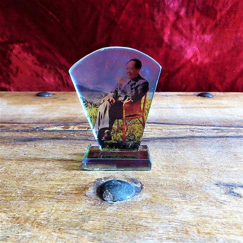 Desktop China Mao Zedong Sitting In Glass