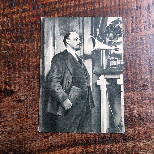 Postcard Soviet Russia Lenin Radio Recording 1919