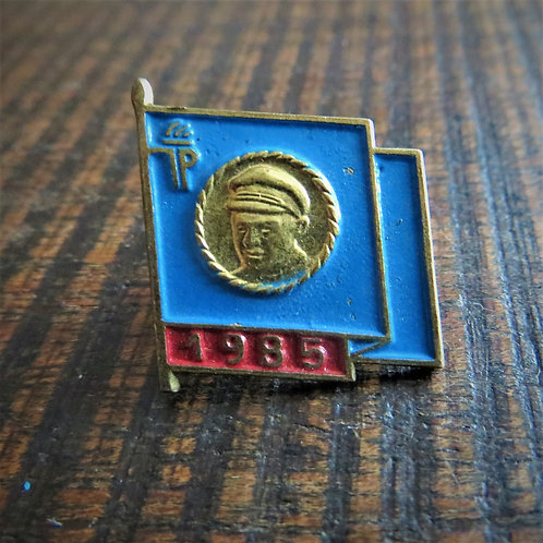 Pin DDR Pin Young Pioneers Blue Flag 1985