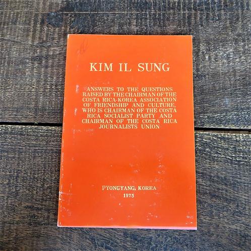 Kim Il Sung Questions Raised By Costa Rica 1975