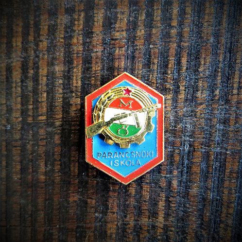 Pin Hungary Workers Militia Commander School Graduation Badge