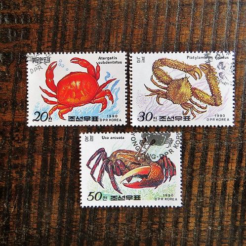 Stamps North Korea Nature Crabs 1990