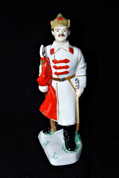 Statue Soviet Russia Porcelain Red Army Soldier