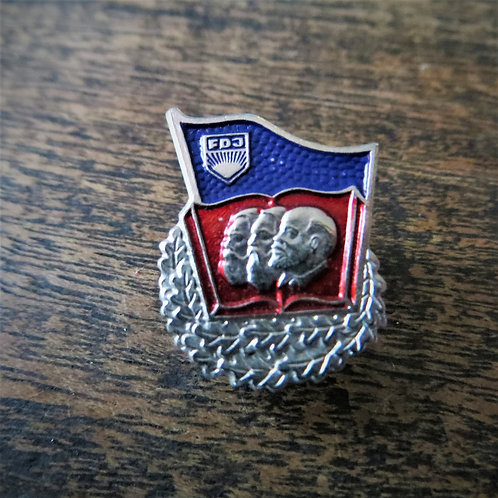 """Pin DDR Pin FDJ Karl Marx, Friedrich Engels, Lenin """"Silver"""" Edition"""