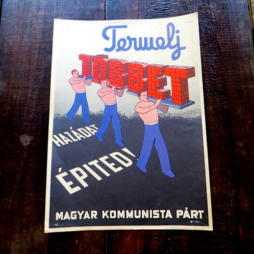 Poster Hungary Reproduction Communist Party Hungary 1984