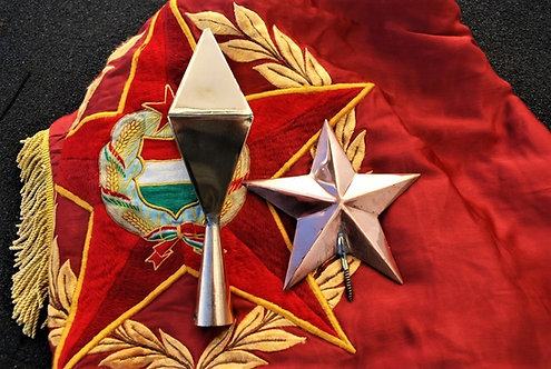 Various Soviet Russia Flag Pole Point