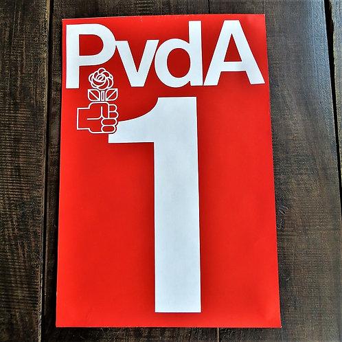 Poster Netherlands Original PvdA Lijst 1