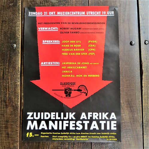 Poster Netherlands Original South Africa Manifestation 1980