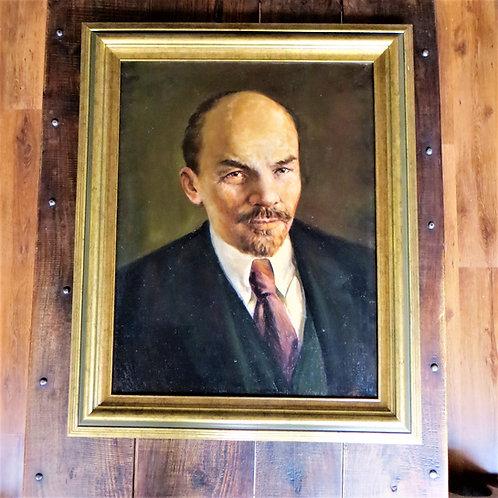 Various Soviet Russia Painting Vladimir Lenin 1973