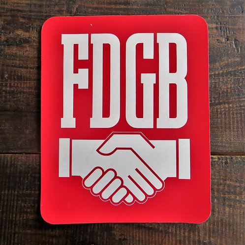 Wallpiece DDR Cardboard Sign FDGB