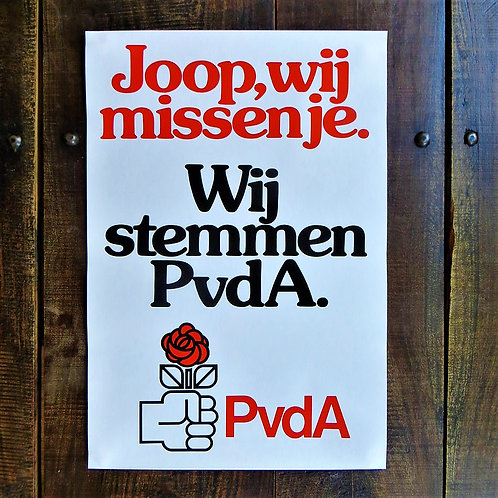 Poster Netherlands Original Joop We Miss You