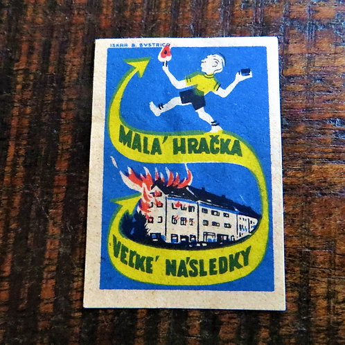 Matchbox Label Czechoslovakia