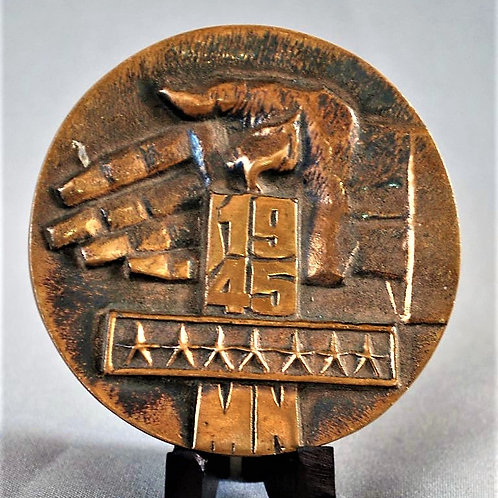 Table Medal Soviet Russia Warsaw Pact