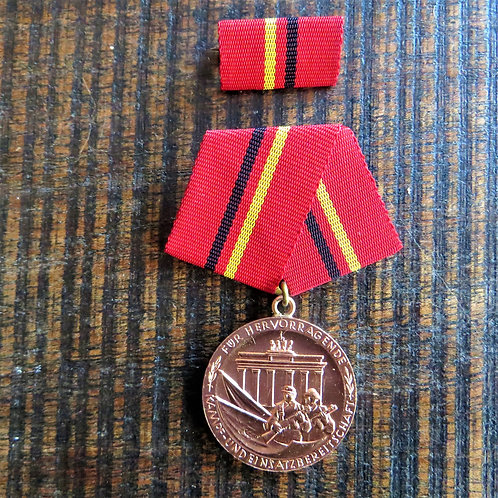 Medal DDR Of Merit Of The Combat Groups Of The Working Class Bronze