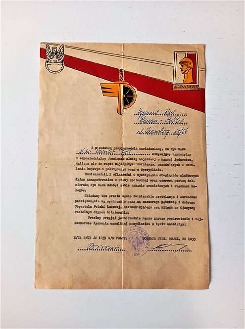 Document Poland Honored Soldier