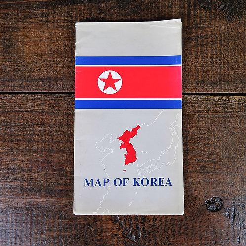 Document North Korea Map Korea 1986
