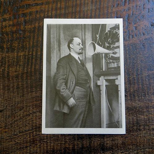 Postcard Soviet Russia Lenin 1969 Radio Recording 1919