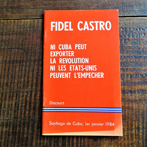 Book Cuba Speech Fidel Castro 1984 French Edition