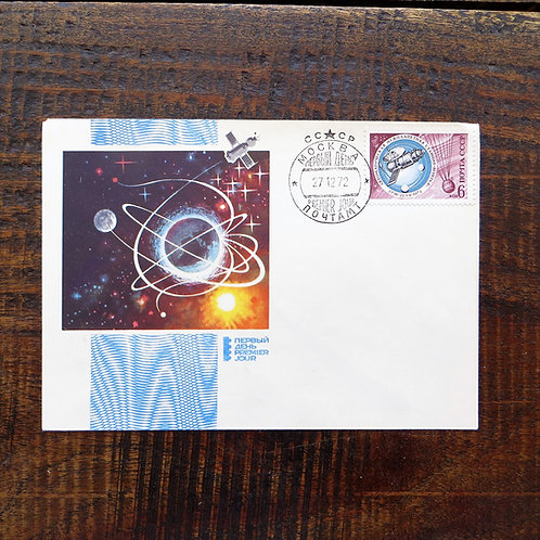 FDC Soviet Russia CCCP FDC Space 1972