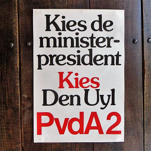 Poster Netherlands Original Choose The Prime Minister