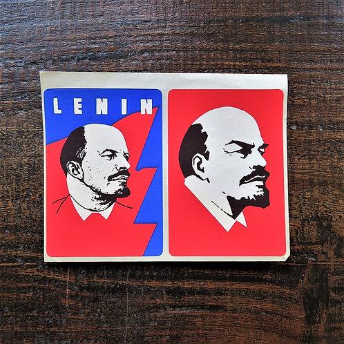 Document Soviet Russia Lenin Stickers