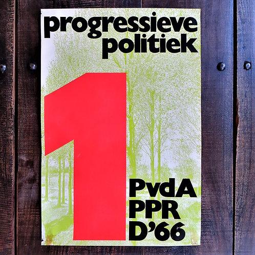 Poster Netherlands Original PvdA Progressive Politics