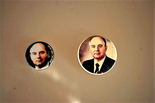 2 Pins With Mikhail Gorbachev