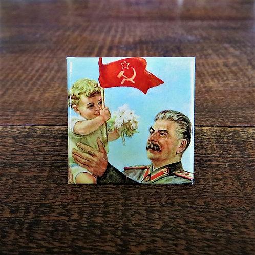 Fridge Magnet Stalin With Child