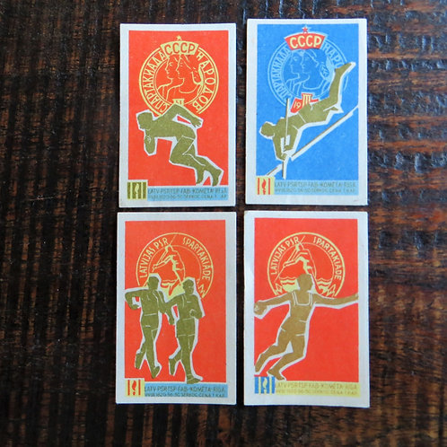 Matchbox Label Soviet Russia Sports