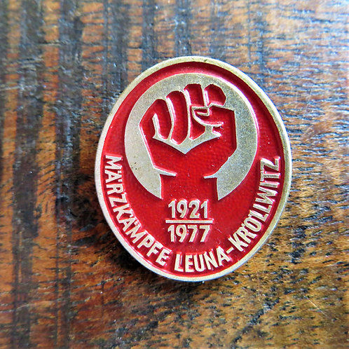 Pin DDR March Kampf 1977