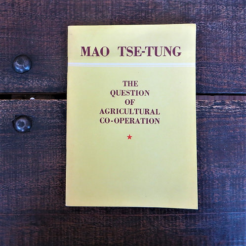 Book China Mao Zedong The Question Of Agricultural Co-operation 1956