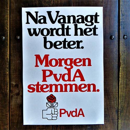 Poster Netherlands Original PvdA Poster