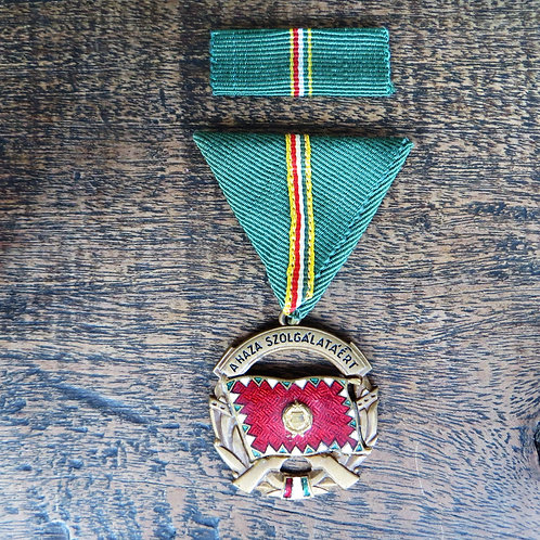 Medal Hungary For Service To The Fatherland Bronze Grade