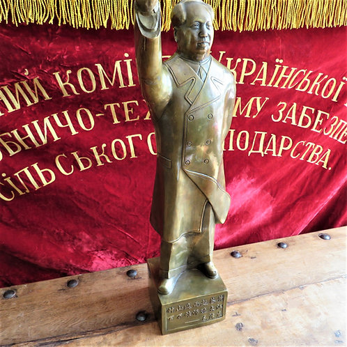 Statue Mao Zedong Big Heavy Copper Mao Zedong
