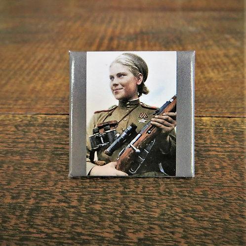 Fridge Magnet Roza Shanina Soviet Sniper